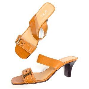 BCBG   Y2K Leather Sandal Heel